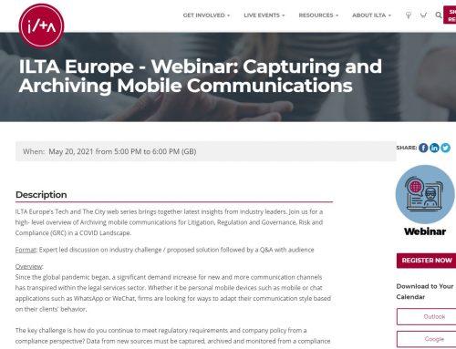 ILTA Webinar:  SBP Law partners with TeleMessage and ILTA